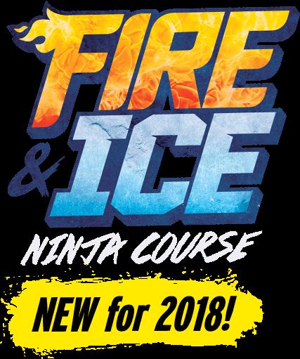 TopJump Trampoline Park's Fire & Ice Ninja Course