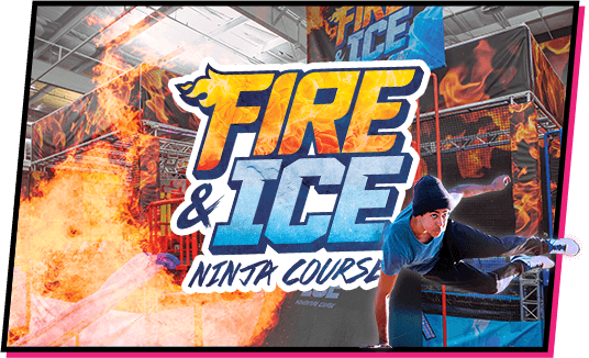 Fire & Ice Ninja Course at TopJump Trampoline Park and Extreme Arena